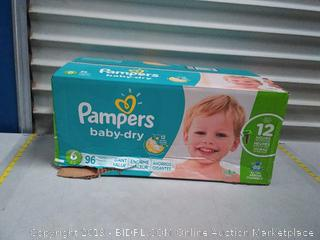 Pampers Baby Dry Diapers - Size 6 96.00 pack