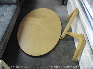 Oval Dining Table (Missing Parts) ( Please Preview)