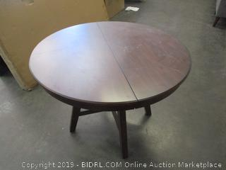 Brown Wood Round Table