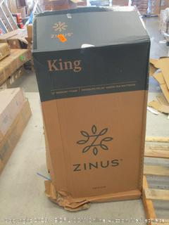 "Zinus King 12"" Memory Foam Mattress  box damage"