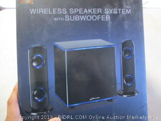 Wireless Speaker System and Subwoofer