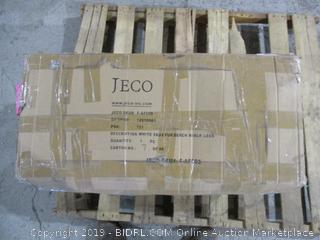 Jeco White Faux Fur Bench / no legs