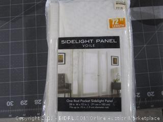One Rod Pocket Sidelight Panel