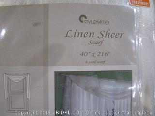 Scarf Linen Sheer
