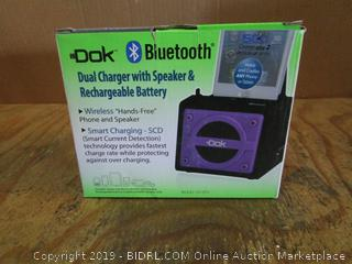Dok Bluetooth Dual Charger with Speaker & Rechargeable Battery