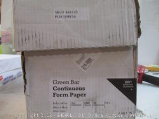 Green Bar Continuous Form Paper