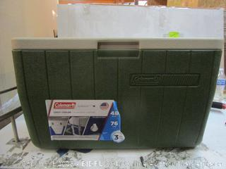 Coleman Chest Cooler damaged see pictures