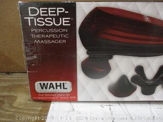 Wahl Deep Tissue Percussion Therapeutic Massager damaged box