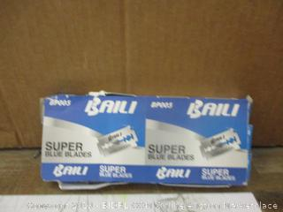 Baili Super Blue Blades  Missing Items Damaged Box