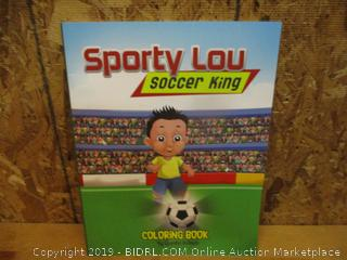 Sporty Lou Soccer King Coloring Book