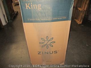 Zinus Memory Foam 12 Inch Green Tea Mattress, King (Retail $503.00)