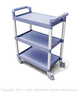 "New Star 1 pc Heavy Duty Utility Cart Bus Cart 350 lbs Load 3 Tier Cart 42-1/2x19-1/2x38-1/2"" Grey (online $99)"