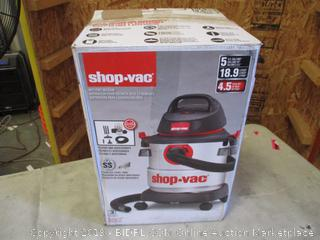 SHOP-VAC WET/DRY VACUUM (POWERS ON)