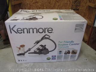 KENMORE PET FRIENDLY BAGLESS CANISTER VACUUM (POWERS ON)