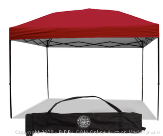 Punchau Pop-up Canopy Tent, Red, 10' x 10'