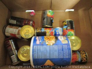 Box Lot Canned Food, Rockstar