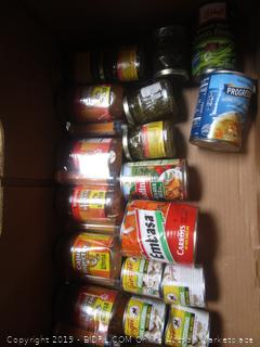 Box Lot Caned Food