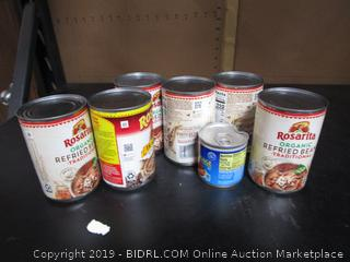 Misc. Lot Canned Food Beans