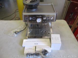 BREVILLE ESPRESSO MACHINE (POWERS ON)
