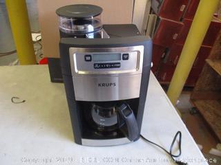 KRUPS GRIND & BREW COFFEE MAKER (POWERS ON)