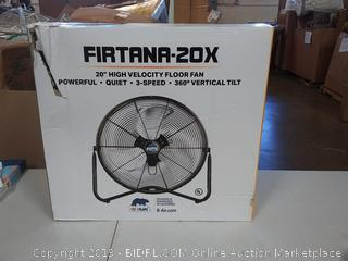 "Firtana 20X High Velocity Floor Fan 20""h"