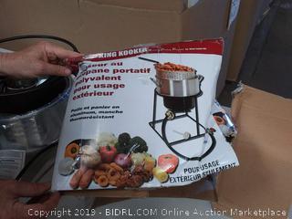 King Kooker Multi-Purpose Portable Propane Outdoor Cooker (frame stand bent)