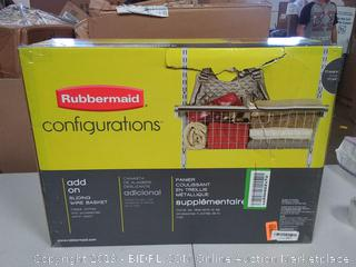 Rubbermaid Configurations Add On Sliding Wire Basket