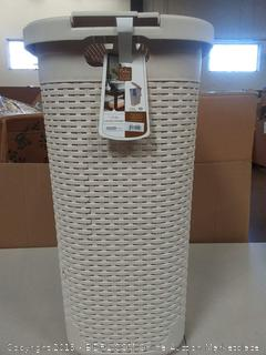 Palm Luxe Collection Laundry Hamper, White