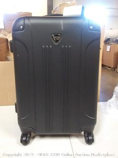 """Travelers Club 20"""" Rolling Carry-On Suitcase, Black"""