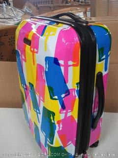 """American Touristor Suitcase w/Wheels, 21"""" Spinner, Popsicle"""