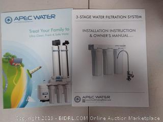 Apec Water 3 Stage Water Filtration System WFS-1000 (Online $136.36)