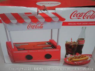 Nostalgia Coca-Cola Hot Dog Roller and Bun Warmer, 8 Hot Dog and 6 Bun Capacity