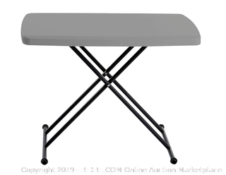 indestructable to table 30 x 20 personal table charcoal