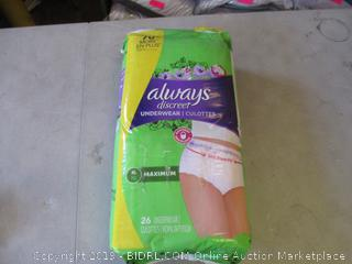 ALWAYS DISCREET UNDERWEAR XL