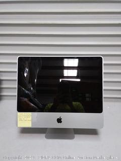 Refurbished iMac(A1224) 20in 2.6 gigahertz 4 gigabyte memory 250GB hard drive( no keyboard no mouse and no power cord)( scratch on back and sides)