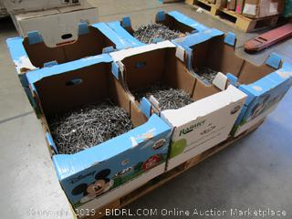PALLET LOT: Thousands of assorted nails (and a few screws)