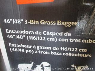 3-bin grass bagger