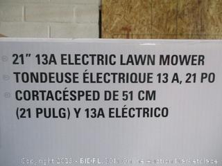 "greenworks 21"" electric lawnmower"