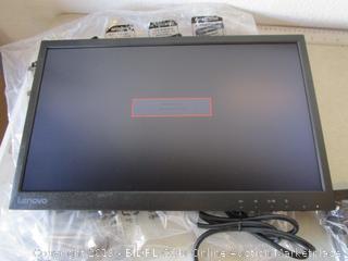 "Lenovo 21.5"" LCD monitor - powers on"