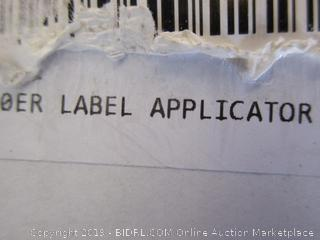 label maker - powers on
