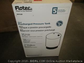 Flotec FP7120 Vertical Pre-Charged Pressure Water Tank, 35 Gallon (Retail $189.00)