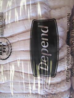 DEPEND FIT-FLEX UNDERWEAR FOR WOMEN SIZE S/M