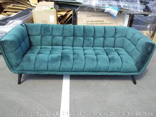 Green Seneca sofa (online $829)