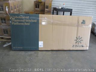 Upholstered Diamond Stitched Platform Bed