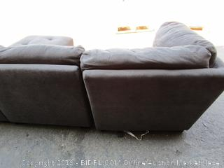 Gray Fabric Convertible Sectional Couch