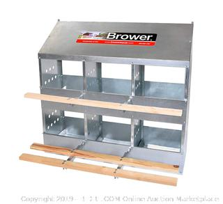 Brower 406B 6 Hole Poultry Nest(Slightly Bent) online $139