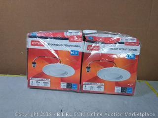 LED downlight retrofit gimbal Ceiling Lighting 4pck (online $60)