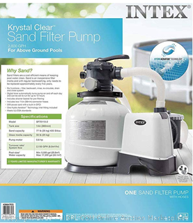 Intex 2800 GPH Above Ground Pool Sand Filter Pump (Online $250)