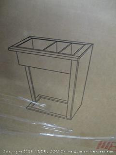 counter height table with side storage