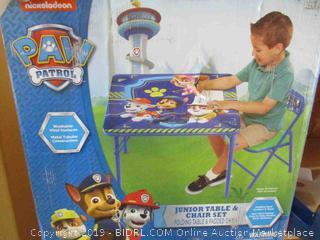 Paw Patrol Junior Table & Chair Set